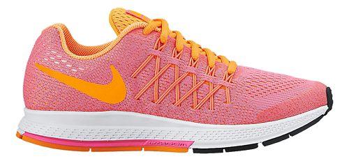 Kids Nike Air Zoom Pegasus 32 Running Shoe - Pink/Citrus 5Y