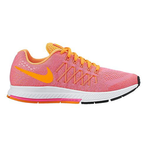 Kids Nike Air Zoom Pegasus 32 Running Shoe - Pink/Citrus 4.5Y