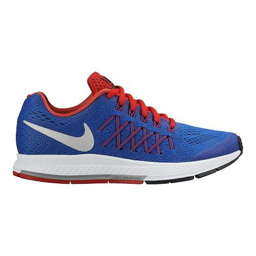 Kids Nike Air Zoom Pegasus 32 (GS) Running Shoe - Blue/Orange 4