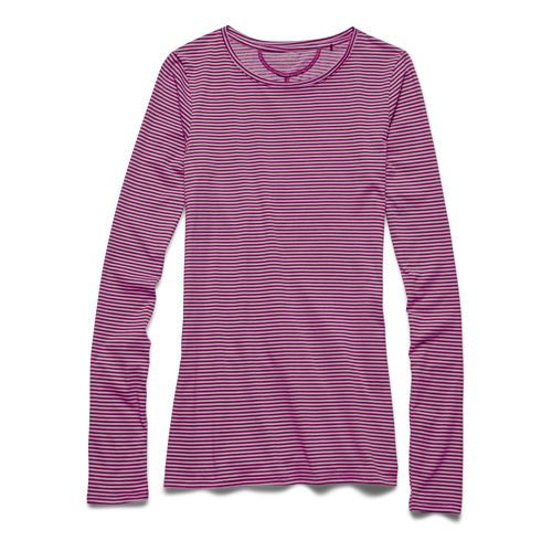 Womens Under Armour Long and Lean Novelty Long Sleeve No Zip Technical Tops - Aubergine ...