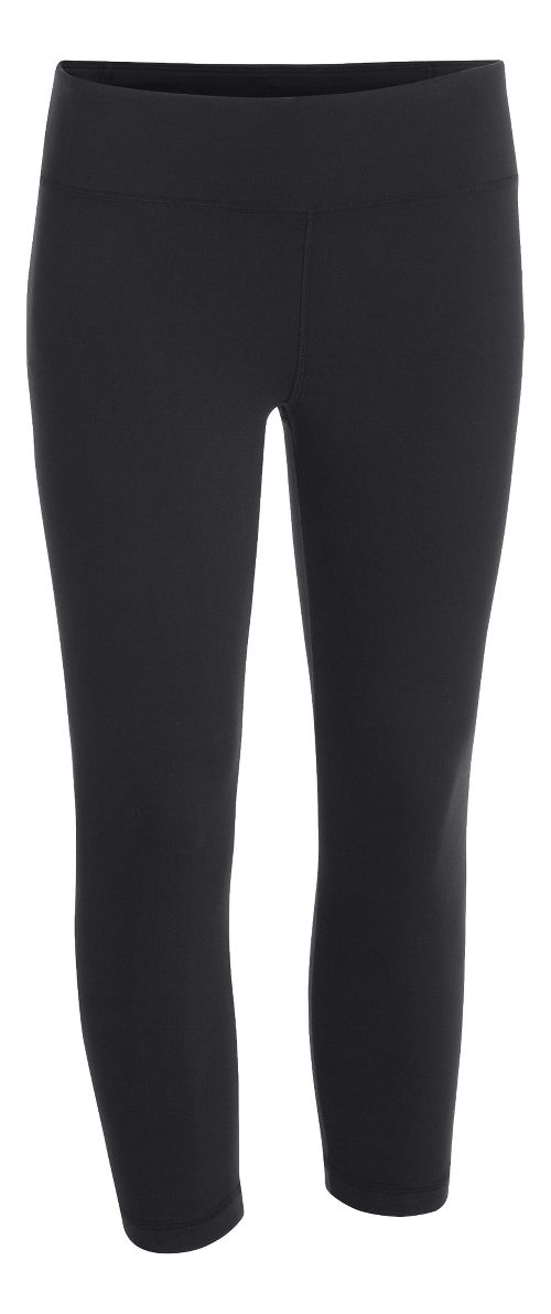 Womens Under Armour Studio Capri Tights - Black XL