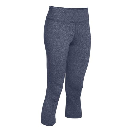 Womens Under Armour Studio Capri Tights - Mechanic Blue S