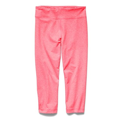 Womens Under Armour Studio Capri Tights - Pink Shock XL