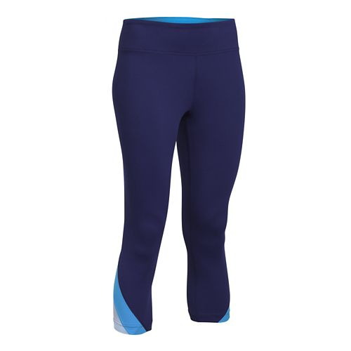 Womens Under Armour Take-A-Chance 20 Capri Tights - Europa Purple S