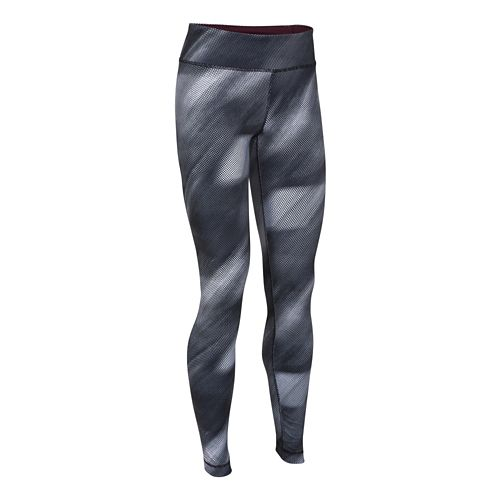 Womens Under Armour Studio Printed Legging Full Length Tights - Black/Ox Blood L