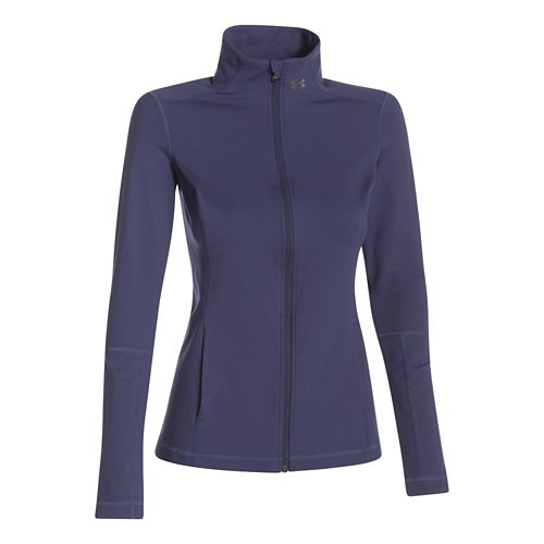 Womens Under Armour Studio Lightweight Jackets - Faded Ink XS