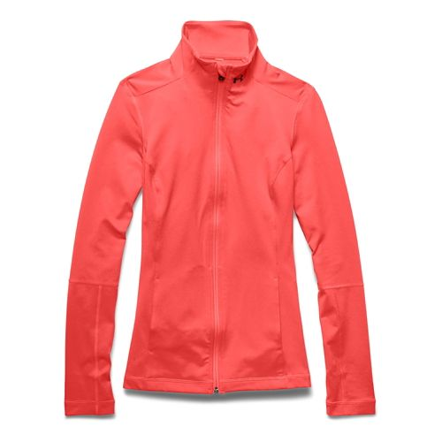 Womens Under Armour Studio Lightweight Jackets - After Burn L