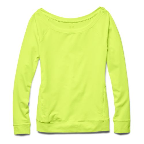 Womens Under Armour Take-A-Chance Crew Long Sleeve No Zip Technical Tops - X-Ray XL