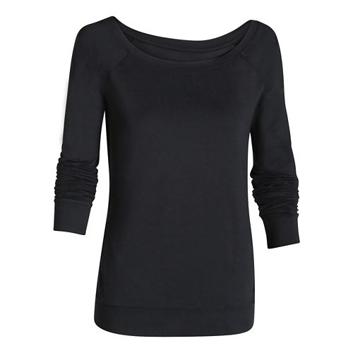 Womens Under Armour Take-A-Chance Crew Long Sleeve No Zip Technical Tops - Anthracite M