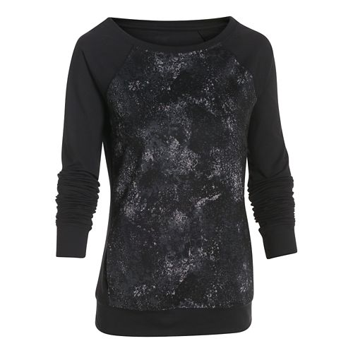 Womens Under Armour Take-a-Chance Novelty Crew Long Sleeve No Zip Technical Tops - After Burn ...