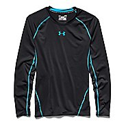 Mens Under Armour HeatGear Longsleeve Compression Long Sleeve No Zip Technical Tops