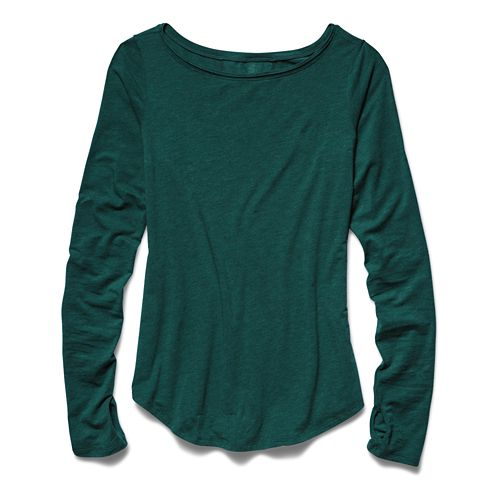 Womens Under Armour Transit T Long Sleeve No Zip Technical Tops - Greenwood S