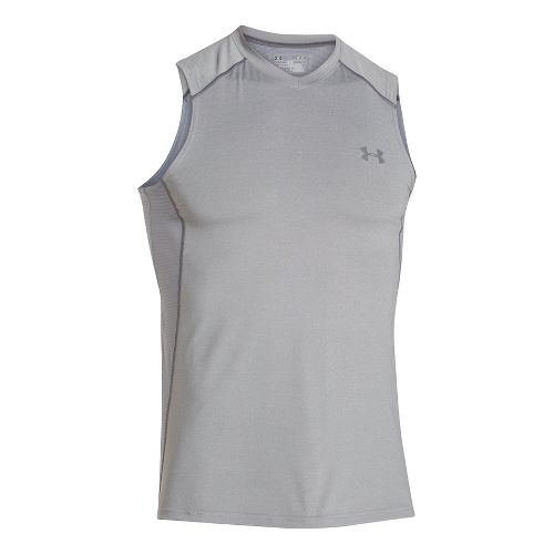 Mens Under Armour Raid T Sleeveless & Tank Technical Tops - True Grey/Steel XXL