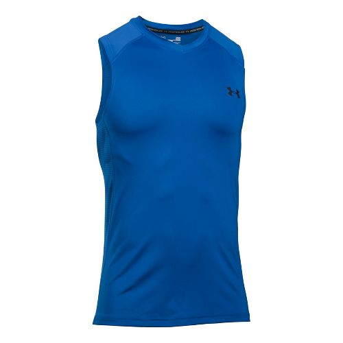 Mens Under Armour Raid Sleeveless & Tank Tops Technical Tops - Blue Marker L