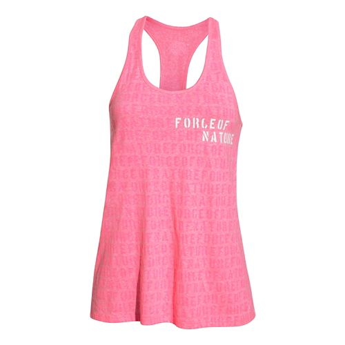 Womens Under Armour Force of Nature Tank Technical Tops - Cerise XS