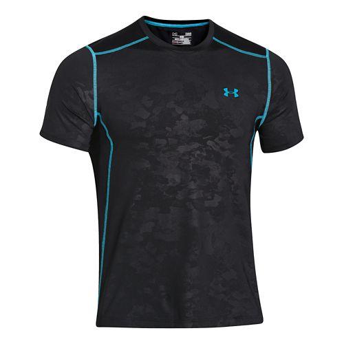 Mens Under Armour Raid Tee Short Sleeve Technical Tops - Black/Black L