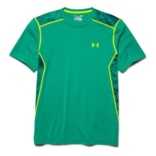 Mens Under Armour Raid Tee Short Sleeve Technical Tops - Emerald Lake 5XL
