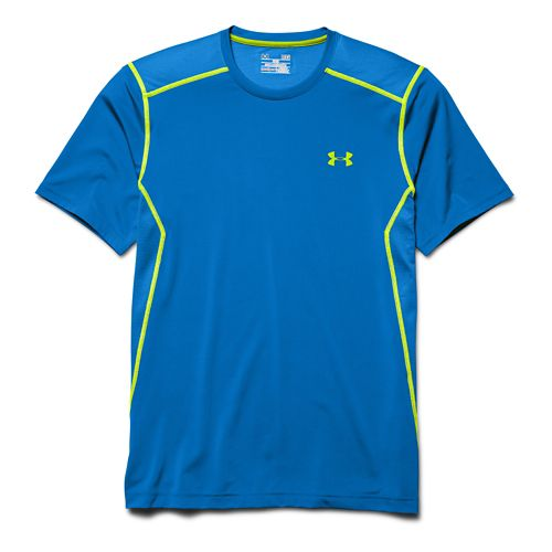 Mens Under Armour Raid Tee Short Sleeve Technical Tops - Blue Jet 4XL