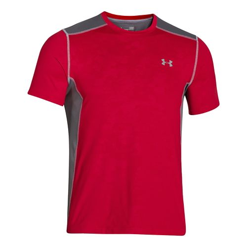 Mens Under Armour Raid Tee Short Sleeve Technical Tops - Red/Graphite 4XL