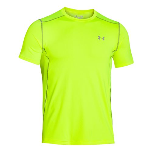 Mens Under Armour Raid Tee Short Sleeve Technical Tops - High-Vis Yellow 3XL