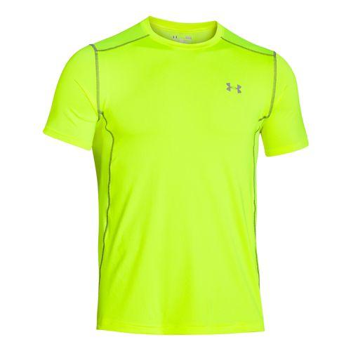Mens Under Armour Raid Tee Short Sleeve Technical Tops - High-Vis Yellow L
