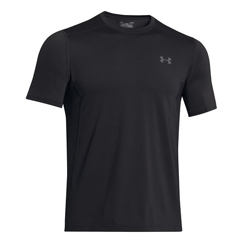 Mens Under Armour Raid Tee Short Sleeve Technical Tops - Black/Graphite L