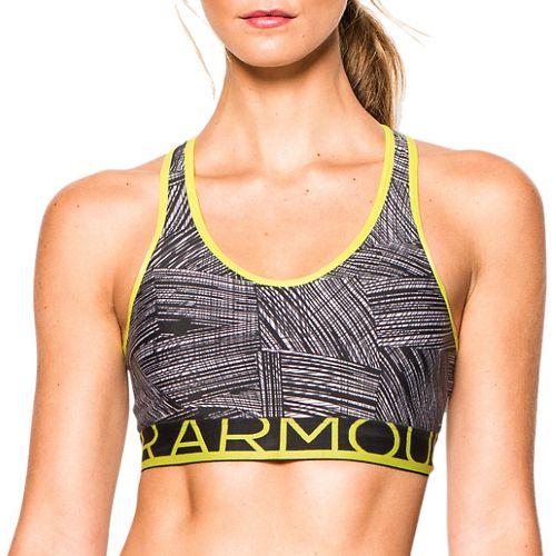 Womens Under Armour HeatGear Alpha Printed with Cups Sports Bras - Black/Flash Light XL