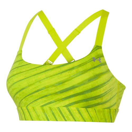 Womens Under Armour Eclipse Printed Sports Bras - Speed Green XS