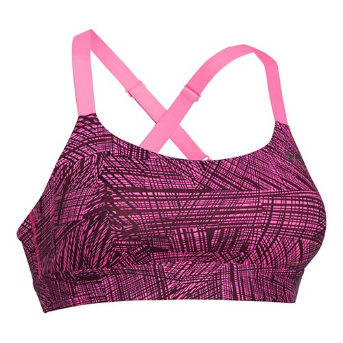 Womens Under Armour Eclipse Printed Sports Bras - Pink Punk L