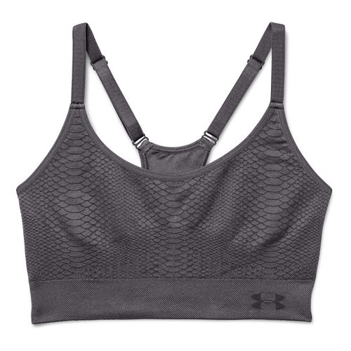 Womens Under Armour Seamless Jacquard Sports Bras - Aubergine M