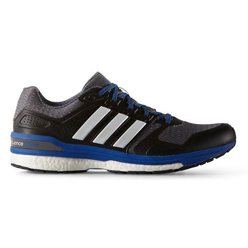Mens adidas Supernova Sequence 8 Boost Running Shoe - Grey/Blue 9.5