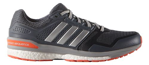 Mens adidas Supernova Sequence 8 Boost Running Shoe - Silver/Red 8.5