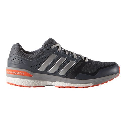 Mens adidas Supernova Sequence 8 Boost Running Shoe - Silver/Red 10