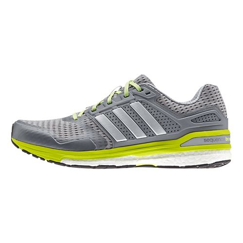Mens adidas Supernova Sequence 8 Boost Running Shoe - Grey/Yellow 7.5