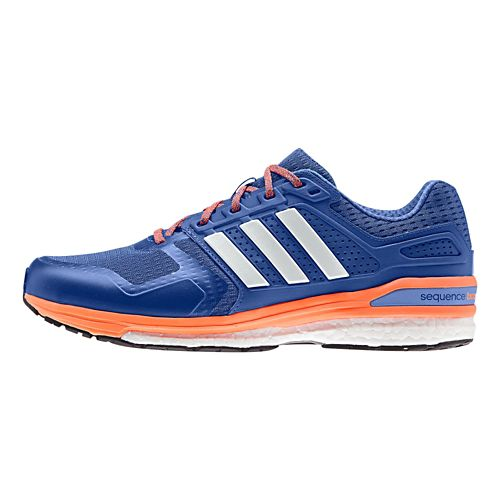 Mens adidas Supernova Sequence 8 Boost Running Shoe - Royal/Orange 9.5