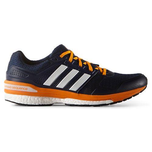 Mens adidas Supernova Sequence 8 Boost Running Shoe - Navy/Orange 9.5