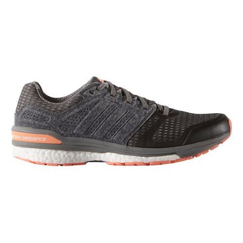 Womens adidas Supernova Sequence 8 Boost Running Shoe - Grey/Sun Glow 10.5