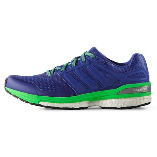 Womens adidas Supernova Sequence 8 Boost Running Shoe - Night Flash/Green 9.5