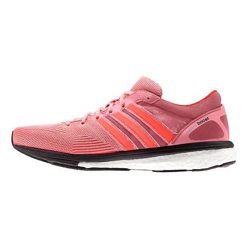 Womens adidas Adizero Boston 5 Boost TSF Running Shoe - Pink/Black 10.5