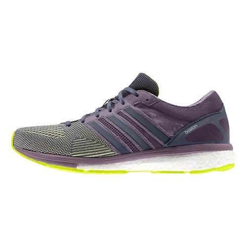 Womens adidas Adizero Boston 5 Boost TSF Running Shoe - Yellow/Purple 9