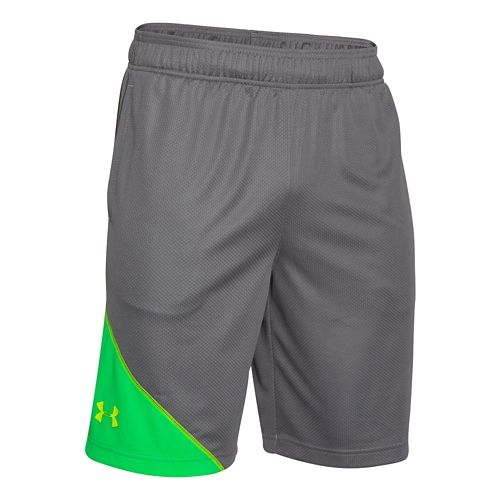 Mens Under Armour Quarter Unlined Shorts - Graphite/Green XL