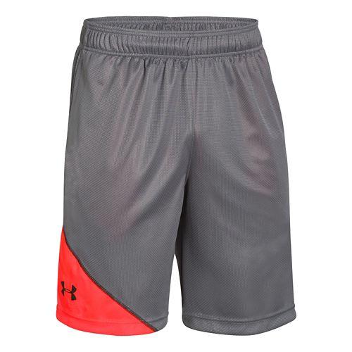 Mens Under Armour Quarter Unlined Shorts - Graphite/Bolt Orange XL