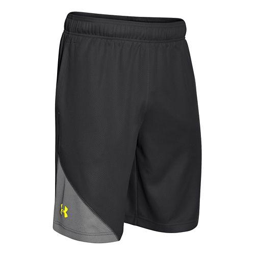 Mens Under Armour Quarter Unlined Shorts - Black/After Burn XXL