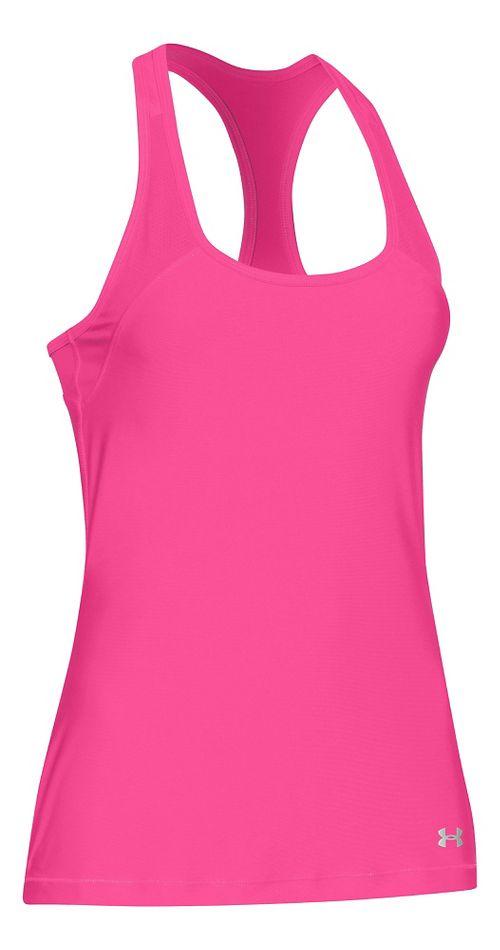 Womens Under Armour HeatGear Alpha Sleeveless & Tank Technical Tops - Rebel Pink/Silver S