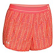 Womens Under Armour Printed Perfect Pace Lined Shorts - Afterglow/After Burn XS