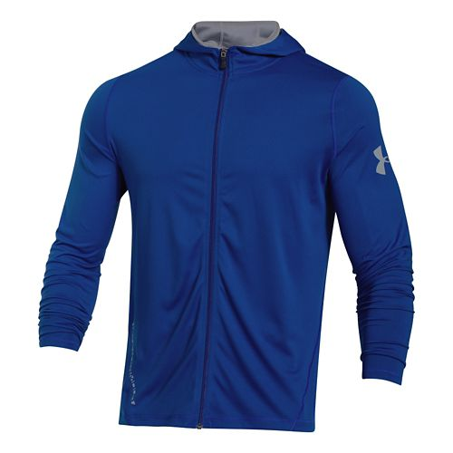 Mens Under Armour Longsleeve Tech Full-Zip Warm Up Hooded Jackets - Royal XXL