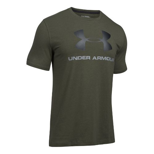 Mens Under Armour Charged Cotton Sportstyle Logo T Short Sleeve Technical Tops - Downtown ...
