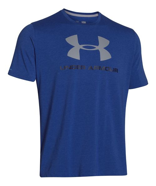 Mens Under Armour Charged Cotton Sportstyle Logo Short Sleeve Technical Tops - Royal/Midnight ...