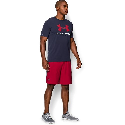 Mens Under Armour Charged Cotton Sportstyle Logo T Short Sleeve Technical Tops - Midnight Navy ...