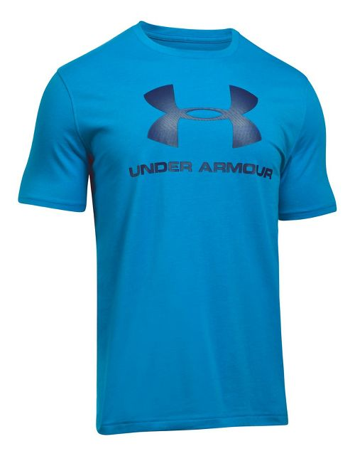 Mens Under Armour Charged Cotton Sportstyle Logo Short Sleeve Technical Tops - Downtown ...